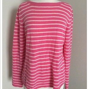 Peck & Peck 100% cashmere 2 ply knit sweater Sz S